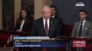 Chuck Grassley Slams Senator  Schumer for misleading the public on Russia probe