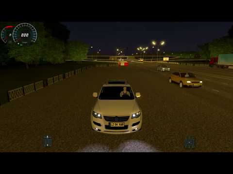 City Car Driving VW Touareg R50 HD with Logitech G27 Fast NIGHT Driving