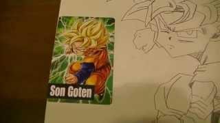 ドラゴンボールが大好きなお兄さん~7歳児~絵カードを見ながら描いたも...