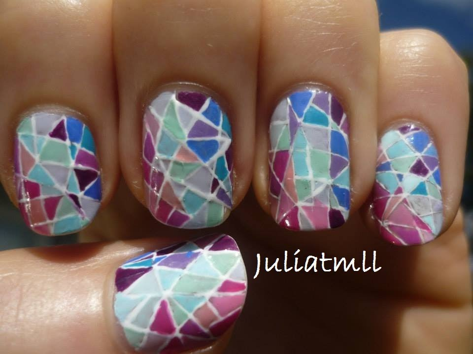Stained Glass Nail Art Tutorial - YouTube