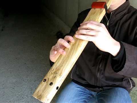 Native American-style E Minor Drone Flute By Kuzin Bruce - Tunnel  Improvisation #1