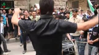أغاني حلبية و طرب حلبي من وحي الثورة السورية في مظاهرات حلب مع ابو الجود