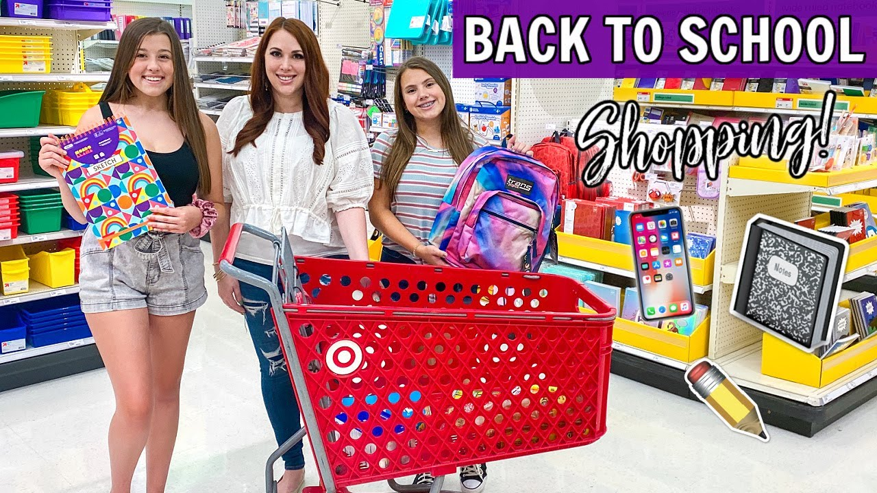BACK TO SCHOOL SHOPPING TRIP FOR NEW SCHOOL SUPPLIES!