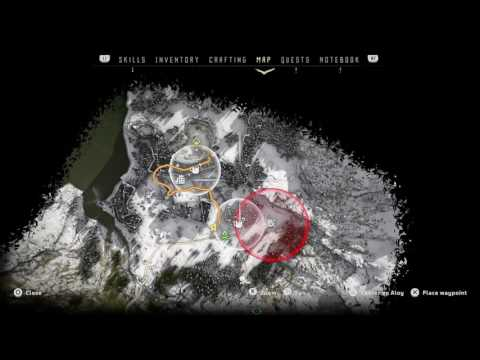 HORIZON ZERO DAWN ANICENT VESSEL MAKERS END #1 COLLECTABLE AND MAP LOCATION