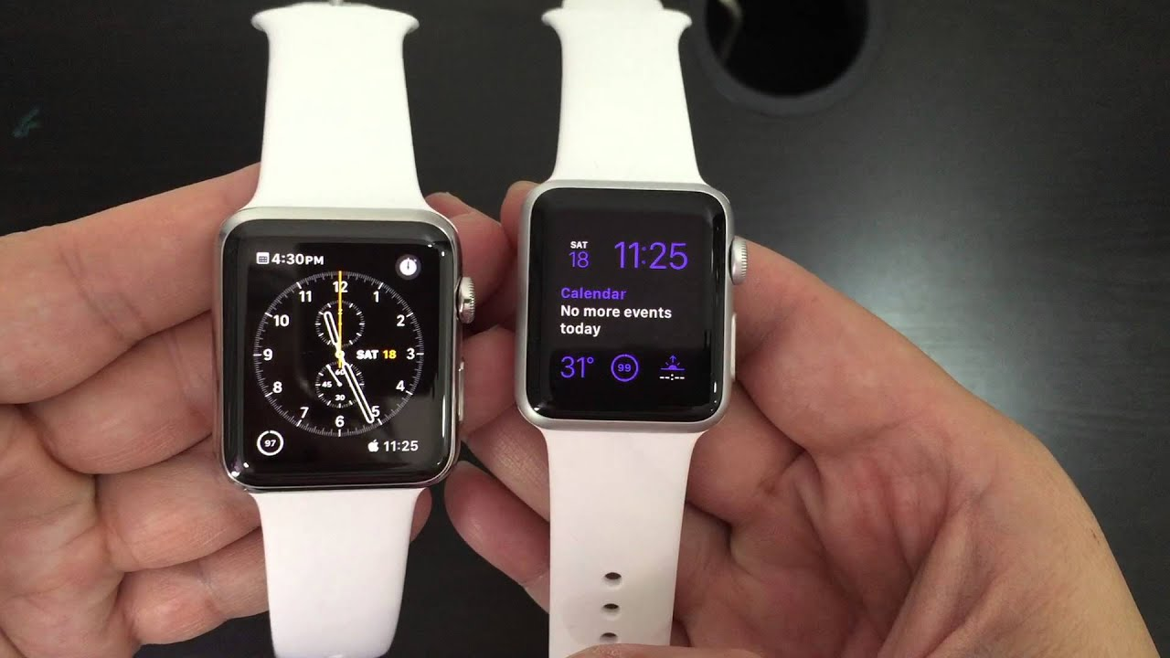 apple watch 38mm sport vs 42mm stainless steel comparison youtube