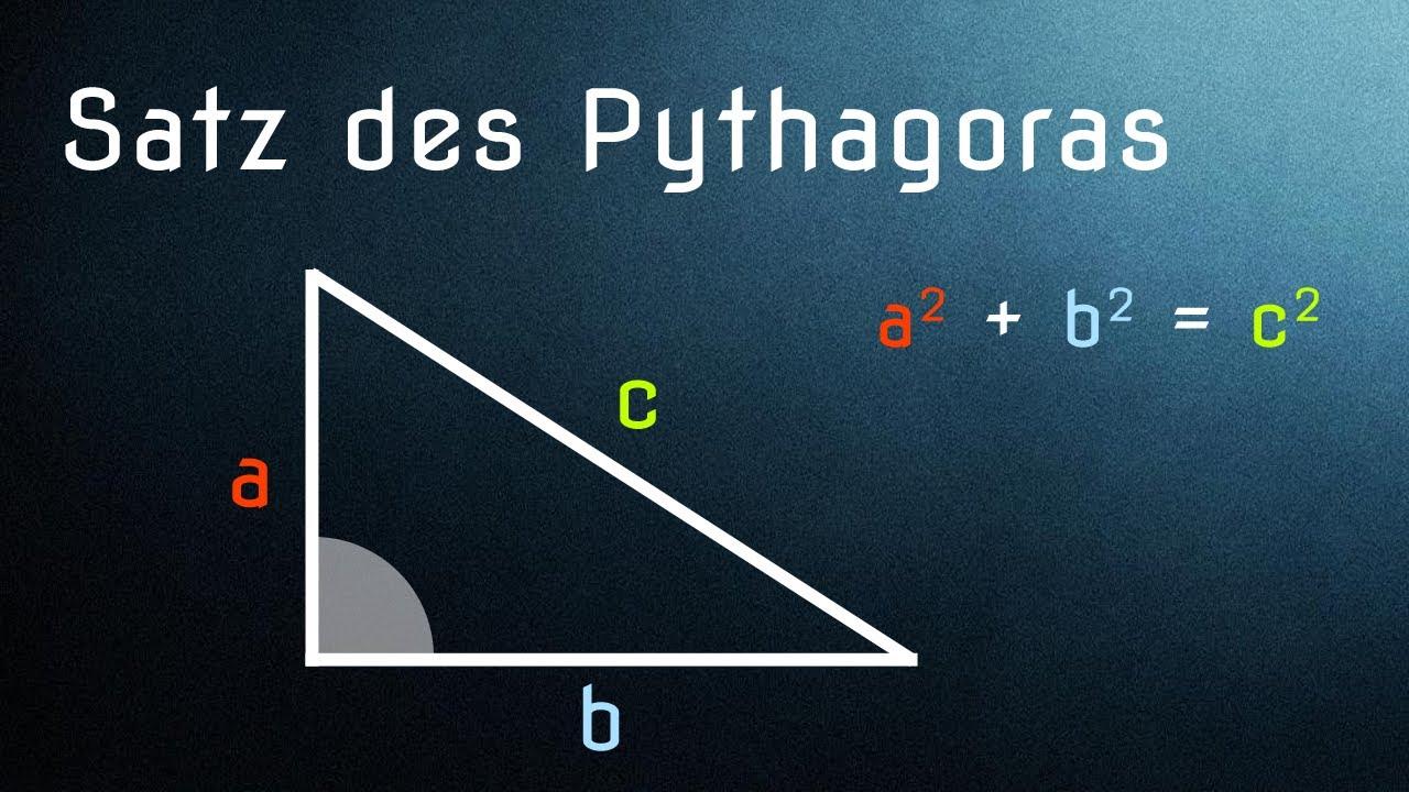 Satz des Pythagoras (einfach erklärt, Anwendung und Herleitung ...