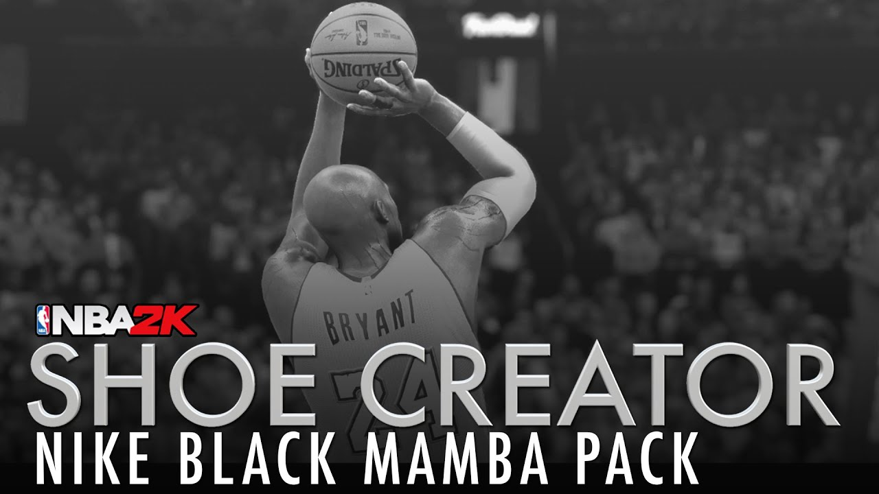 NBA 2K16 Shoe Creator: Nike Black Mamba Pack