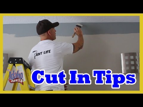 How to paint a straight line. Tips cutting in ceilings like a professional painter.