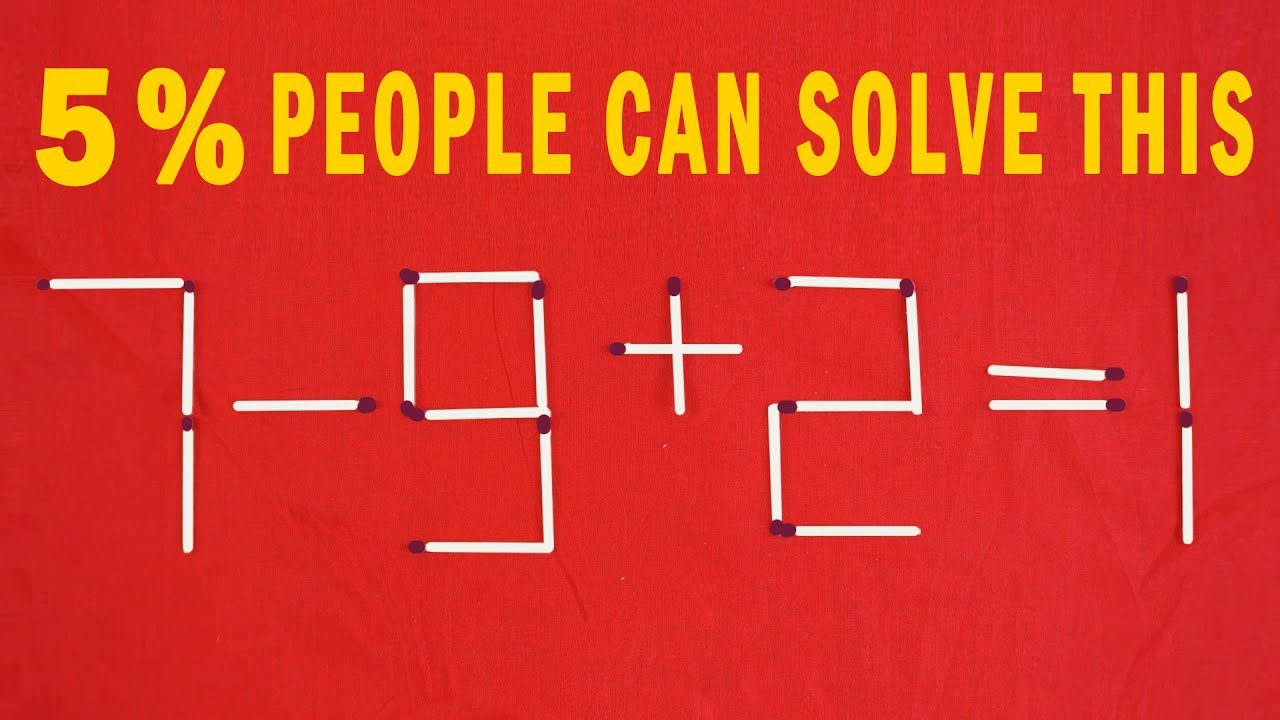 5 Matchstick Puzzles with solution   5% People can Solve   Brain Teaser    puzzles for kids