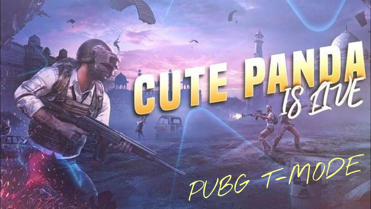 Cute panda playing PUBG Mobile New T-Mode live