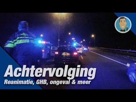 ACHTERVOLGING en aanhouding op de A27. Melding reanimatie en meer. Politievlogger Jan-Willem.