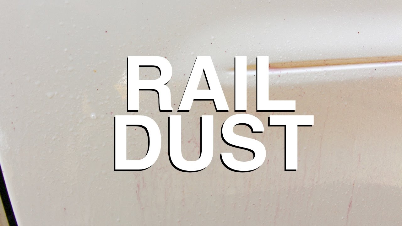 How To Remove Rail Dust Tiny Rust Spots On Paint Youtube