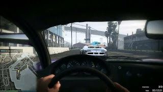 "Grand Theft Auto V Online PC Gameplay Ep 02 ""First Person Race then Shot in the Face"""