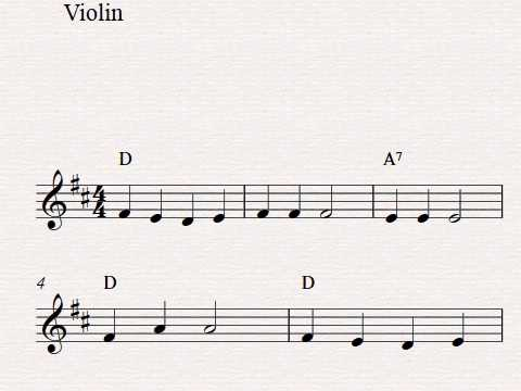 Sheet music for violin beginners