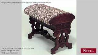 English Antique Bench/stool Arts&crafts Seating And Chairs