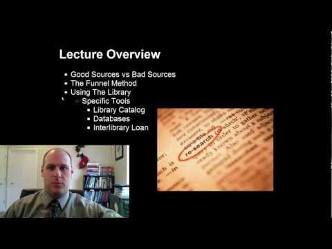 Research Techniques Lecture (Butte)