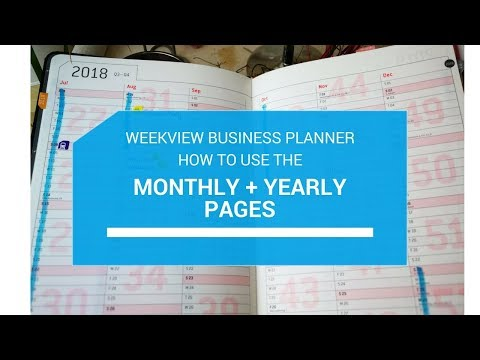How to use the yearly/monthly pages in a planner