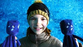 Видео для девочек - Спруты в ледяной пещере - Игрушки Майкрафт