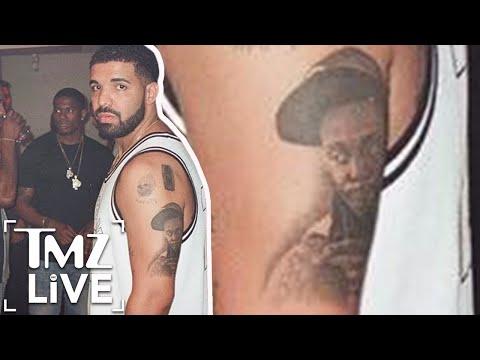 Drake Gets Lil Wayne Tattoo | TMZ Live
