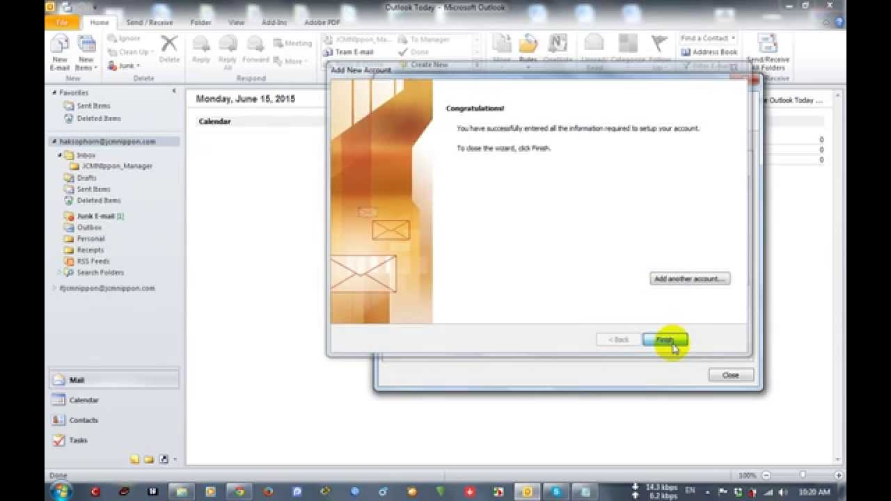 How to Setup Multiple Email Accounts in Microsoft Outlook 2010 [part4]