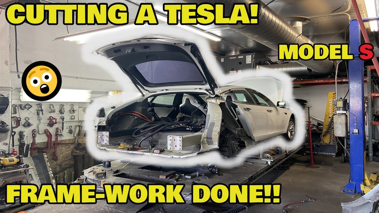 Rebuilding a CHEAP WRECKED Tesla Model S 100D from COPART Part 4 ( Salvage Tesla )