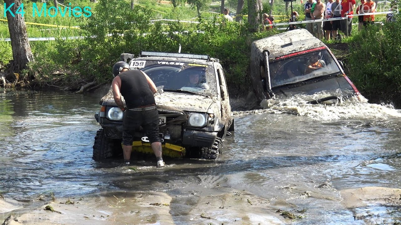 4x4 SUV Off-Road race through water fields | Ridala 2017