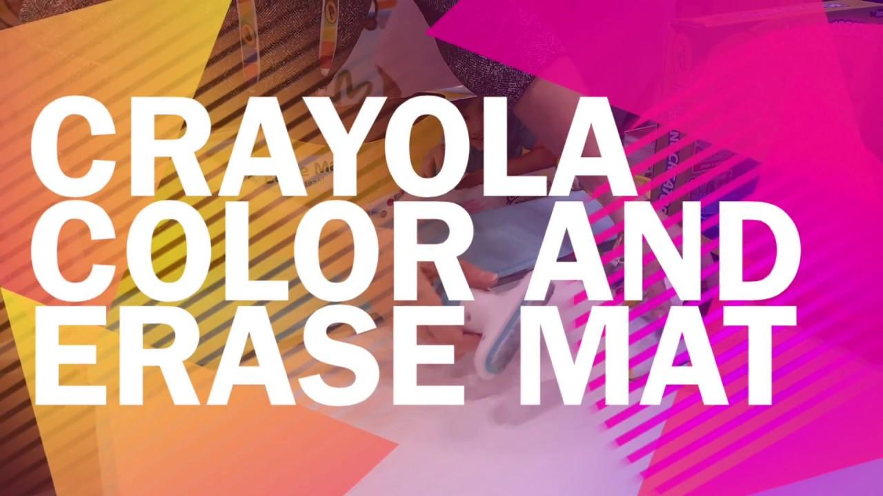 Crayola Color And Erase Mat Toy Fair 2017 Youtube