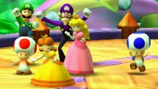 Mario Party: Star Rush - Toad Scramble Walkthrough: World 0 (2 Player)