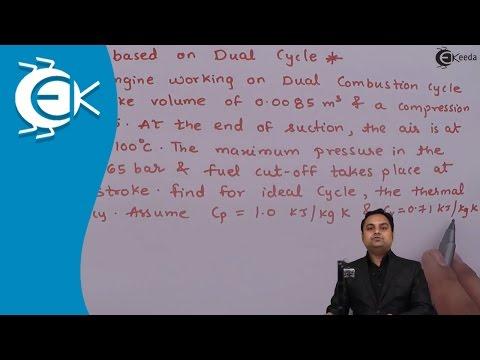 Problem No.5 Based on Dual Cycle in Power Gas Cycle || Ekeeda.com