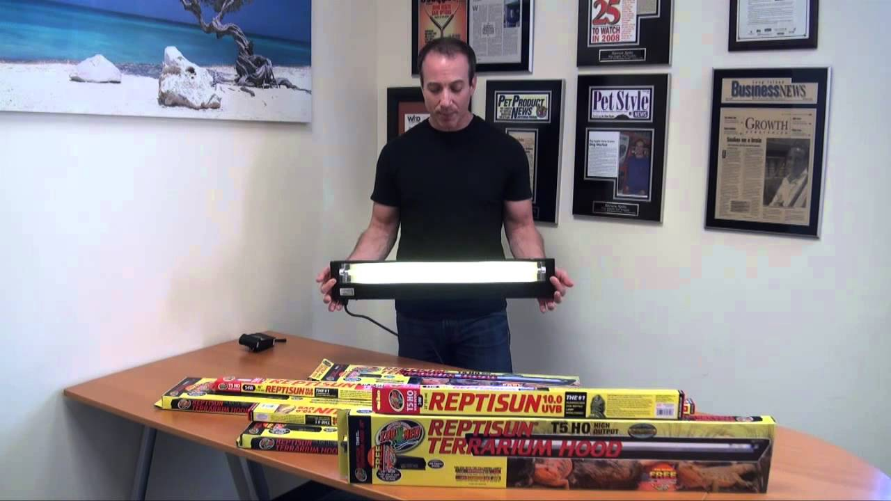 Led Ballast Zoo Med Reptisun T5 Ho Fixtures And Bulbs - Powerful Uv