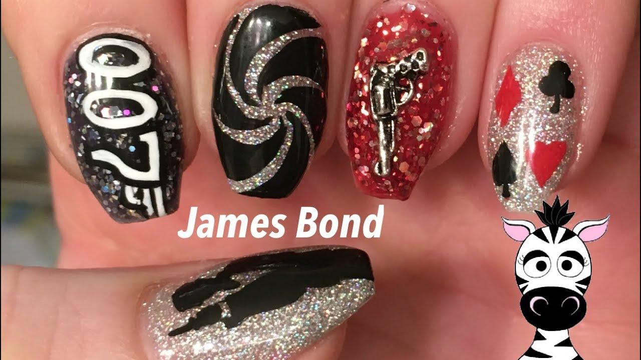 James Bond Nail Art Tutorial | AZURE BEAUTY Official Store ...