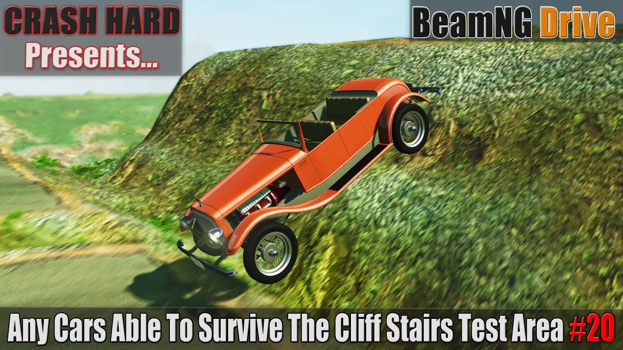 BeamNG Drive - Any Cars Able To Survive The Cliff Stairs Test Area #20