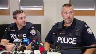 Police officers describe Toronto flood elevator rescue