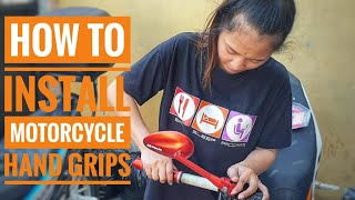 How To Install Motorcycle Hand Grips (Racing Boy Hand Grips)
