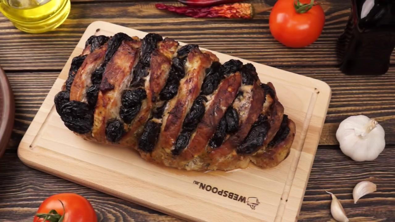 Тушеное мясо свинины с черносливом рецепт