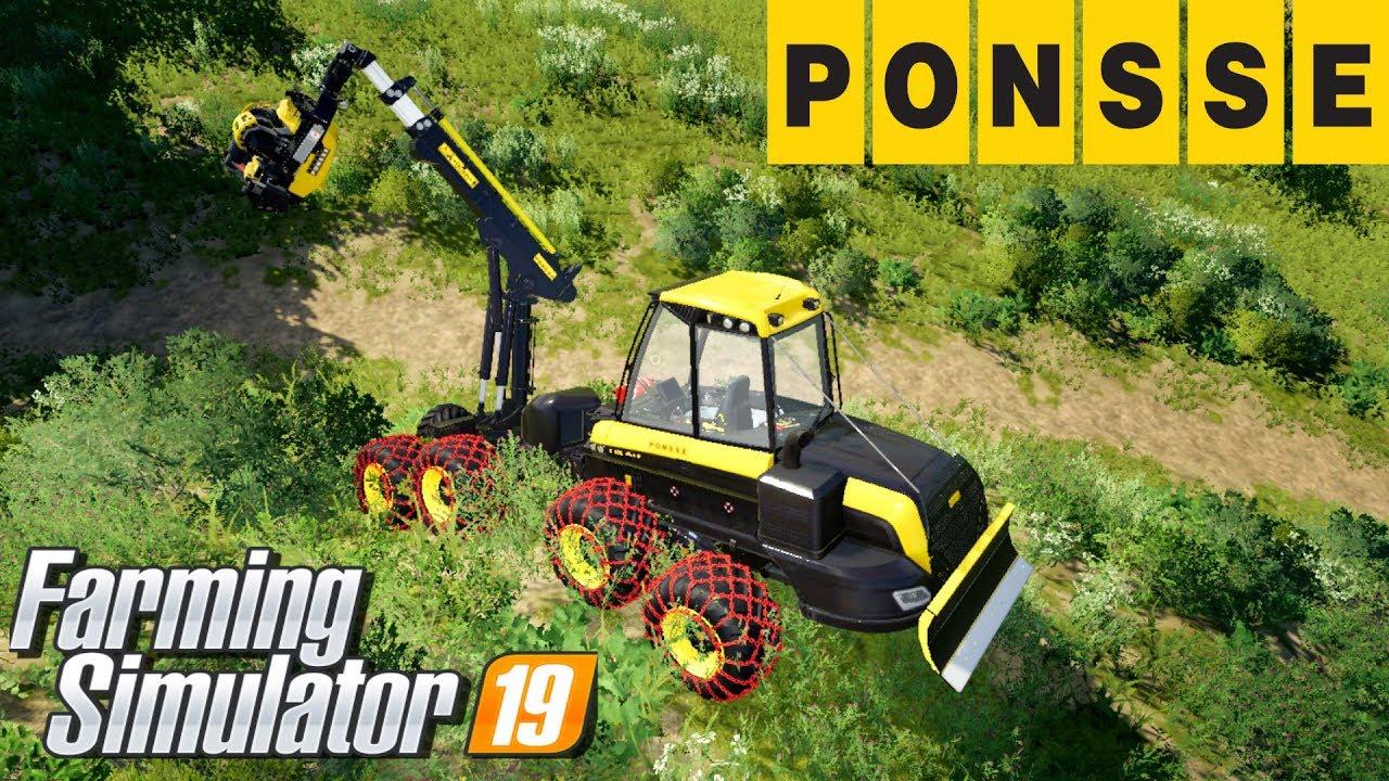 Ponsse simulator harvester feeling a tree download