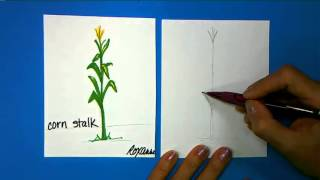 ArtSmart Scarecrow: How to Draw a Cornstalk