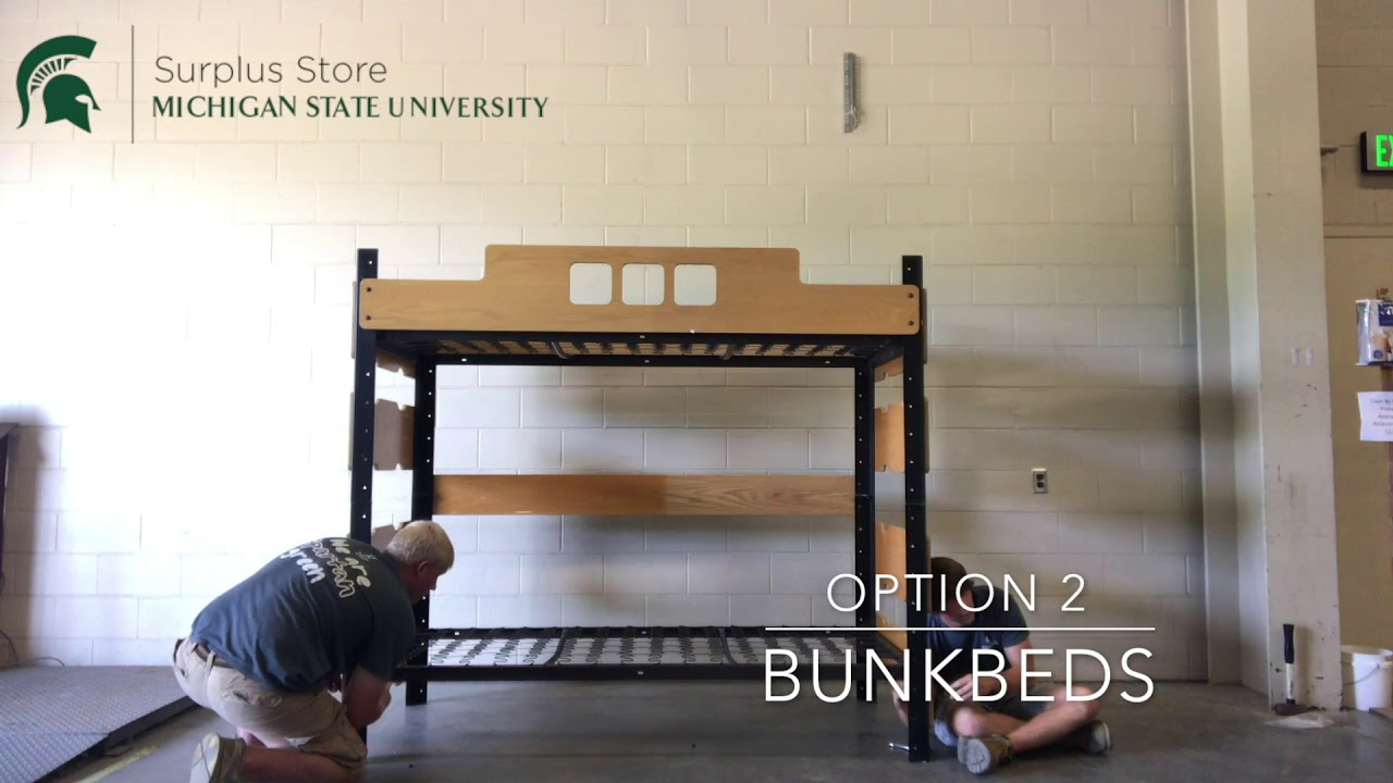 Modular Beds At The Msu Surplus Store Youtube