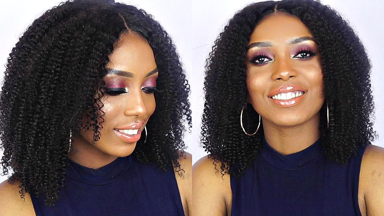 How To Quick Easy Kinky Curly Wig Tutorial Dyhair777
