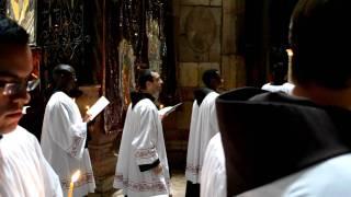 Храм Гроба Господня. Католическая служба.(, 2012-01-03T18:51:50.000Z)