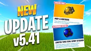 NEW PORT-A-FORTRESS, SPIKY STADIUM, & LEAKS (5.41 UPDATE) - Fortnite Best Moments #157