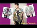 Men Floral Patterned Jacket