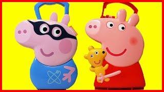 佩佩豬粉紅豬小妹驚喜禮物玩具盒,喬治豬變超人還有出奇蛋