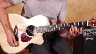 Led Zeppelin Style Acoustic Blues Guitar Lesson - Bron-Y-Aur Stomp Inspired