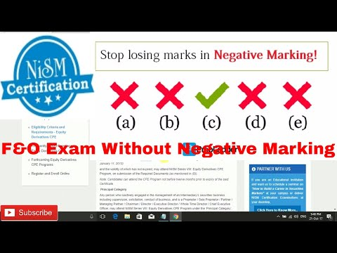 Nism derivatives module F&O certification Without Negative Marking Test