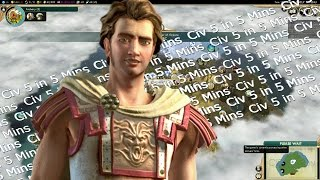 Civ 5 in 5 Mins: Greece Ceases Peace - Sid Meier's Civilization V Brave New World LP