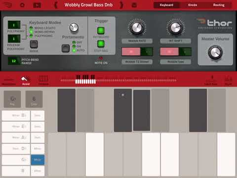 Creating Wicked Synths on Propellerhead Thor iOS 2018