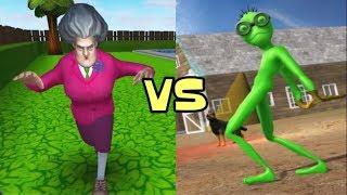 Scary Teacher 3D vs Scary Green Alien