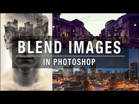 How to put two different pictures together in photoshop