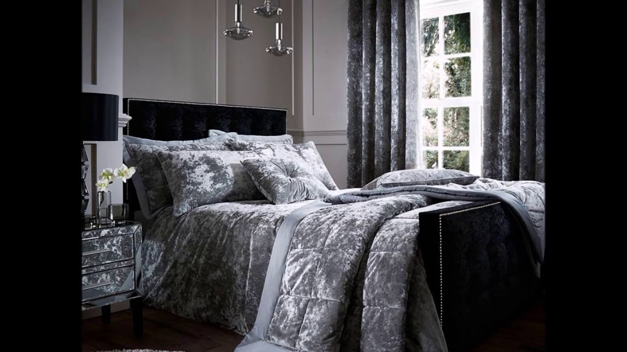 cover set velvet duvet covers grey bedding crushed gb onbuy boulevard on